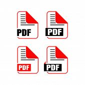 Simple Flat Download Pdf File Icon Vector Logo Illustration Isolated On White Background. Pdf Downlo poster