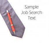 Neck Tie And Pen With Space For Career Text