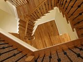 Luxury Descending Wooden Staircase 2
