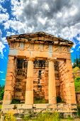 Treasury Of Athens At The Archaeological Site Of Delphi. Unesco World Heritage In Greece poster