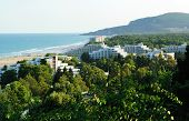 VARNA, BULGARIA - AUGUST 30, 2011: View of seaside resort Albena in Bulgaria