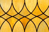 stock photo of triplets  - Detail of stained glass window depicting three diamon - JPG