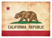 Grunge Flag Of California (usa)