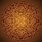 Vintage mandala ornament background