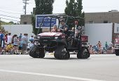 Kawasaki Mule Utv With Tracks Fire Department Vehicle Front View