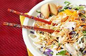 Asian Salad With Chopsticks