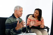 stock photo of psychologist  - Person in need having a counseling session - JPG
