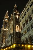 City Hall At Night In Vienna, Austria
