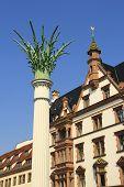 picture of leipzig  - Nikolai pillar memorial to the peaceful revolution in the GDR in 1989 - JPG