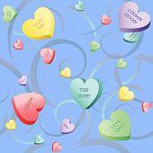 Heart Candy And Swirls