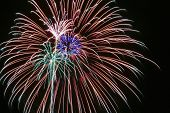 A Night Sky Full Of Exploding Fireworks