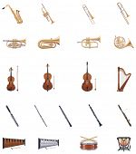 stock photo of piccolo  - Vector Instruments of the Orchestra - JPG