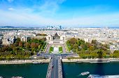 La Defence In Paris France View From Top Of Eiffel