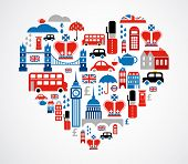 picture of british culture  - London heart - JPG