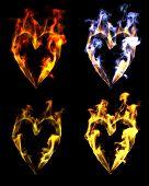 Heart Shaped Flames