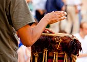 stock photo of congas  - Photo of a Musician Jamba during a concert - JPG