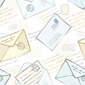Seamles Backgroud With Envelopes