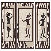 Triptych . African design