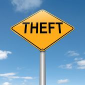 image of shoplifting  - Illustration depicting a sign with a theft concept - JPG
