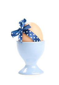 picture of chucky  - Colored easter egg with blue polka - JPG
