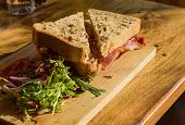 Thick Wholemeal Bread Bacon Sandwich