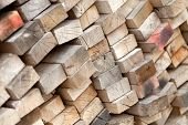 Stack Of Old Lumber