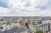 View Of Munich As Seen From The Neues Rathaus Tower.