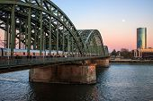 Evening view of Hohenzollern Bridge