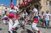 Ball De Bastons At Festa Major In Sitges, Spain