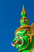 A Thai Style Statue Of Tosakan: A Giant Character In Ramayana