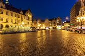 Old Market Square With Modern Fountain, Wroclaw