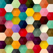 picture of hexagon  - Abstract colorful background - JPG