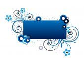 blau Textrahmen