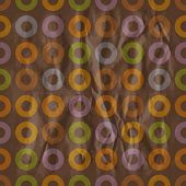 Seamless retro brown pattern with torus. Eps10