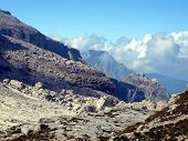 Brenta Dolomites Mountain Views In The Area Of ??alfredo Sentiero Path And Pass Grosté, Italy