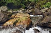 Water Flowing Through Rocks, Reshi River, Reshikhola, Sikkim