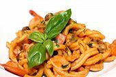 Delicious seafood pasta at restaurant