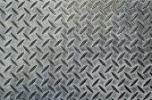 picture of oblong  - grey metal pattern background with pointed oblong design - JPG