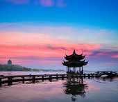 Beautiful Hangzhou In Sunset
