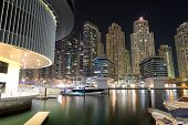 Dubai, Uae - September 11: The Night Illumination Of Dubai Marina On September 11, 2013 In Dubai, Ua