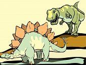 Постер, плакат: Охота Stegasaurus