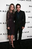 NEW YORK- OCT 17: Actor Ben Stiller and Christine Taylor attend the Project A.L.S. 15th Anniversary benefit at Roseland Ballroom on October 17, 2013 in New York City.