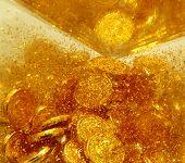 pic of gold glitter  - golden background - JPG