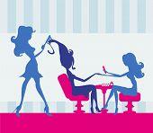 Girl In A Beauty Salon