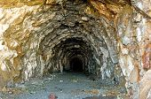 image of gold mine  - Old gold mine tunnel around Salmon Glacier - JPG