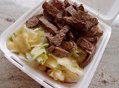 Large Steak And Salad Plate Lunch