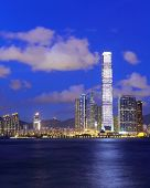 Kowloon side in hong Kong at night