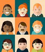 set of vector portraits