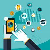 vector mobile service concept illustration