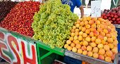 Shop Of Mixed Fruit At The Market In Athens